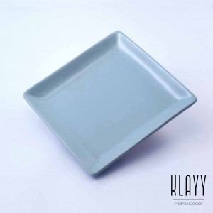 Cyan Blue Square Plate