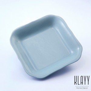 Cyan Blue Deep Square Plate