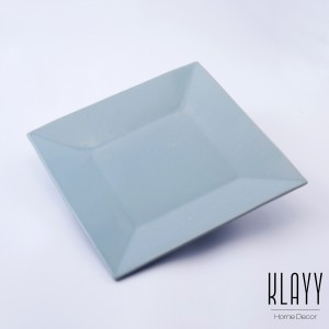 Cyan Blue 25x25 Square Plate