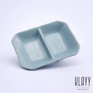 Cyan Blue  2-Compartment Sauce Dish