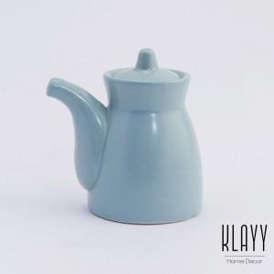 Cyan Blue Fish Sauce Pot