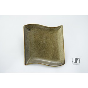 Leopard Wave Square Plate