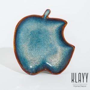 Ocean Wave Apple Plate