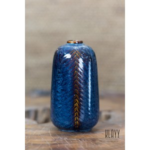 Blue Galaxy Short Bottle Vase