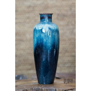 Blue Galaxy Tall Bottle Vase