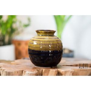 Silky Brown Round Vase