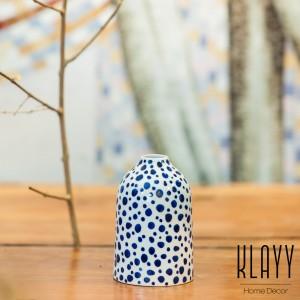 Modern Blue Spot Vase