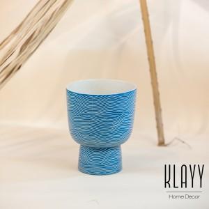Modern Blue Cup Vase