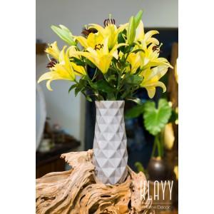 Modern Grey Diamond Vase