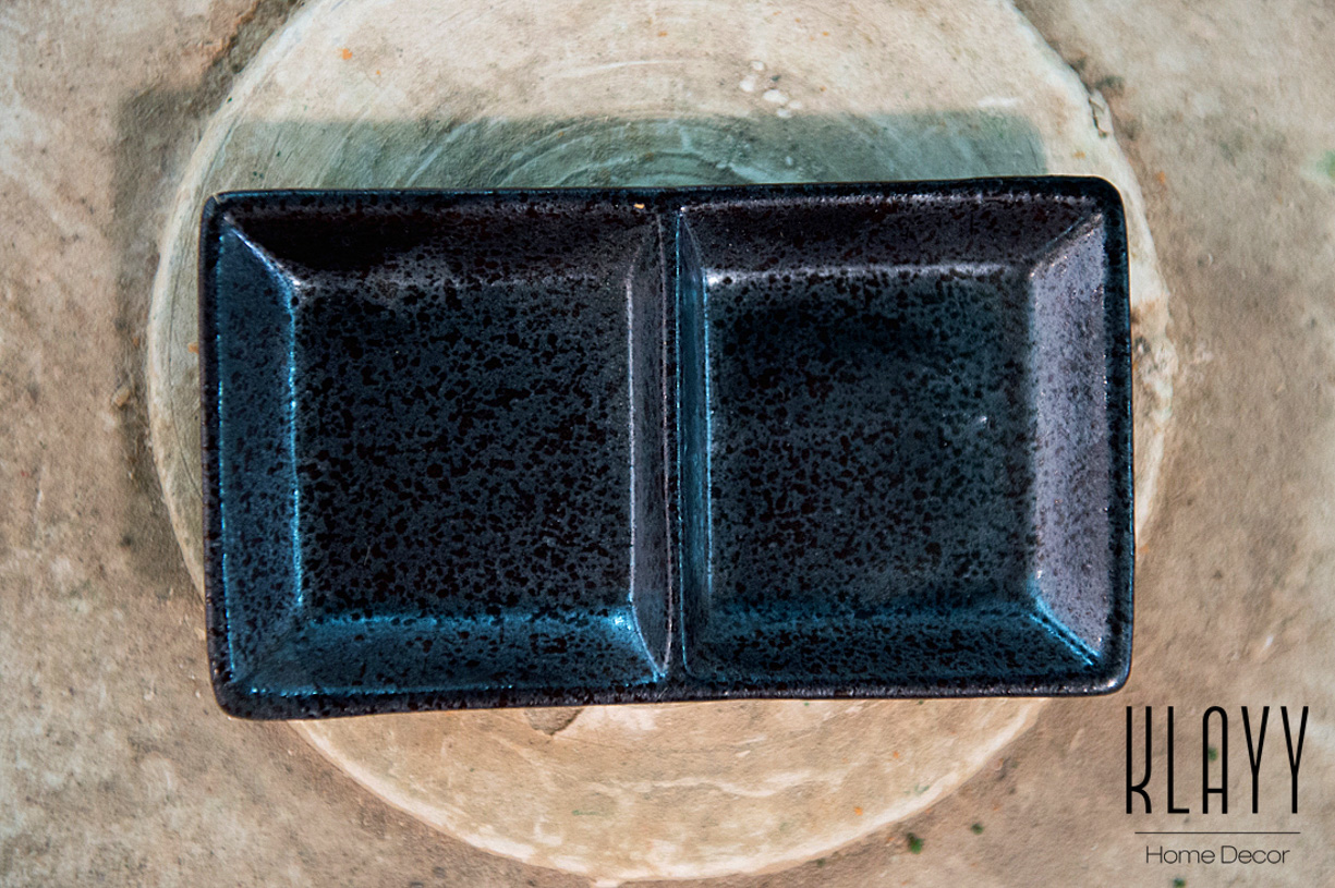 Blackmoon 2- Compartment Sauce Dish