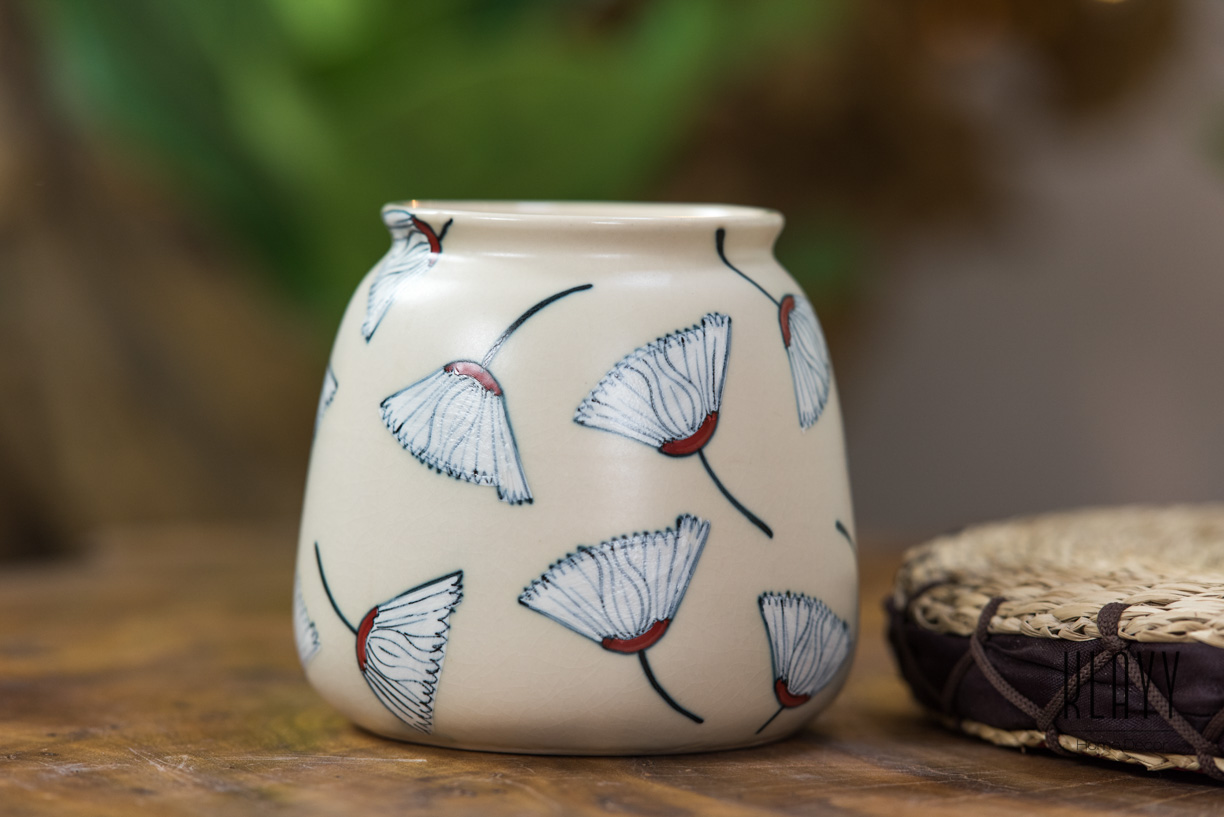 Gingko Leaf Short Vase